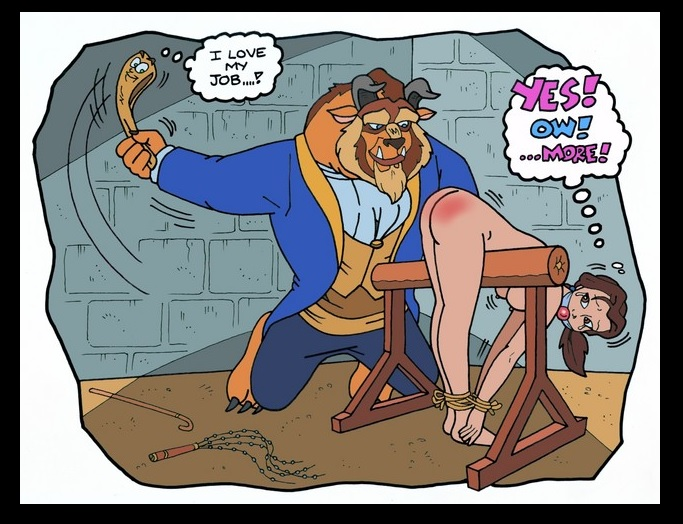 Beauty and the Beast spanking